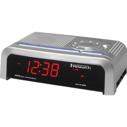 emerson smartset clock radio with dual alarms and digital. Black Bedroom Furniture Sets. Home Design Ideas