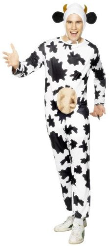 ADULT MENS COW ADULT ANIMAL FARM PLAY FUN SMIFFYS FANCY DRESS COSTUME - M