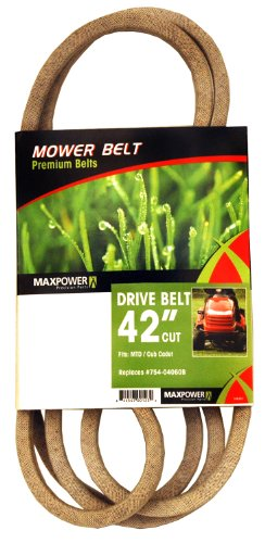 Maxpower 336351 Mower Belt For Mtd, Cub Cadet And Troy-Bilt Models 754-04060B, 954-04060B