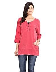 NVL Pink Coloured Cotton Crepe Tunic Medium