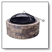 30-Inch Stone Wood Burning Fire Pit