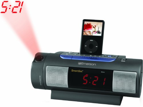 emerson ic172 ipod dock alarm clock radio. Black Bedroom Furniture Sets. Home Design Ideas