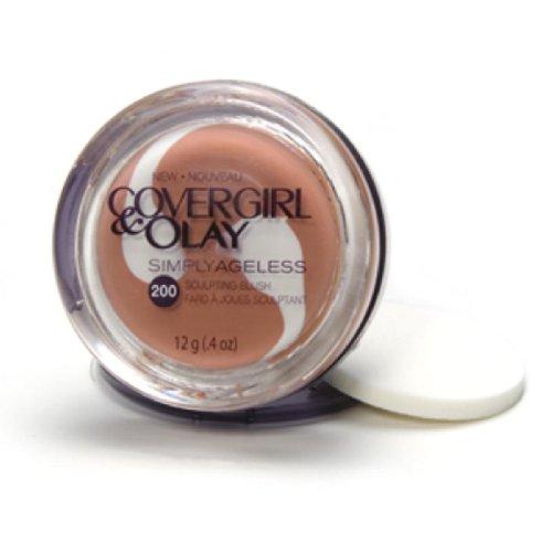 CoverGirl Simply Ageless Sculpting Blush, Plush Peach 200, 0.4-Ounce Jar