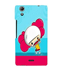 PrintVisa Cute Cartoon Girl 3D Hard Polycarbonate Designer Back Case Cover for Micromax Canvas Selfie 2 Q340