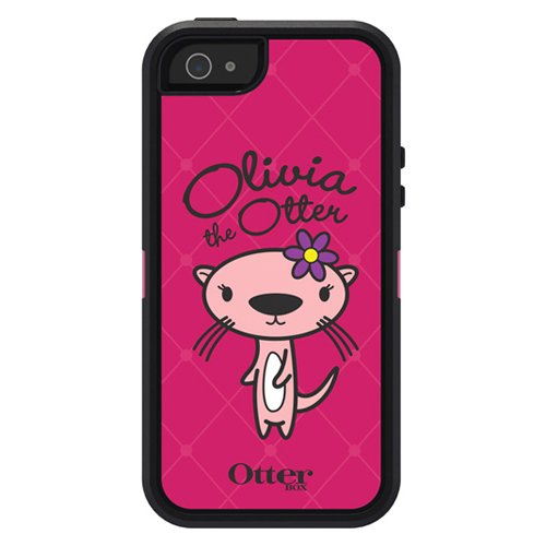Special Sale OtterBox Defender Series Case and Holster for iPhone 5 - Carrier Packaging - Friends Collection - Olivia Pink