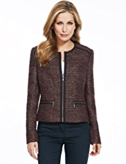 M&S Collection Tweed Jacket with Wool