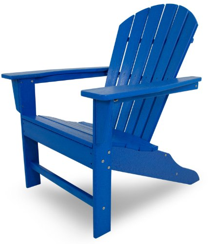 Buy Polywood Outdoor Furniture South Beach Adirondack Chair Pacific Blue Recycled Plastic