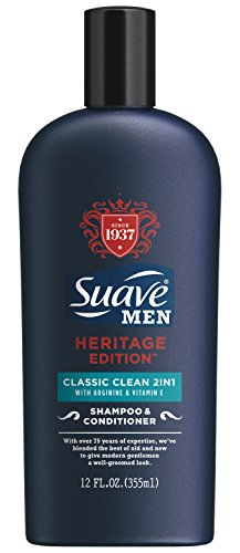 Suave Men 2 in 1 Shampoo and Conditioner, Classic Clean 12 oz (Suave Men Shampoo And Conditioner compare prices)