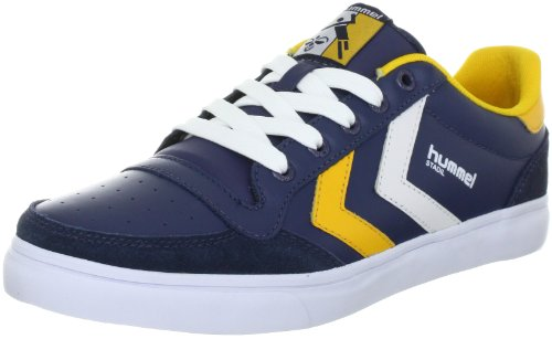 hummel Stadil low 63-064-0513, Sneaker unisex adulto, Blu (Blau (DRESS BLUE/CITRUS/WHITE 0513)), 44