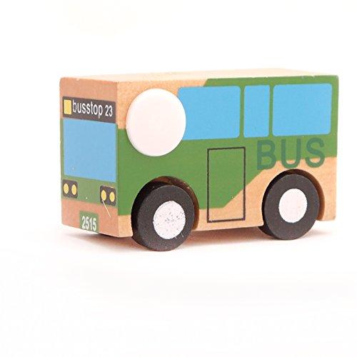 Mini Wooden Car Bus,T00077 - 1