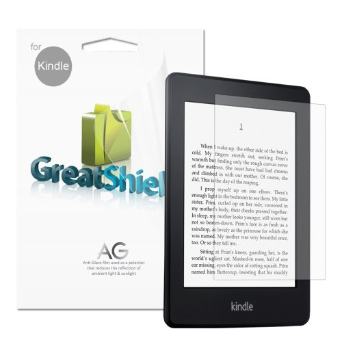 GreatShield Ultra Anti-Glare Screen Protector Film for Kindle, 3 Pack (Fits Kindle Paperwhite, Kindle, Kindle Touch, and Kindle Keyboard)