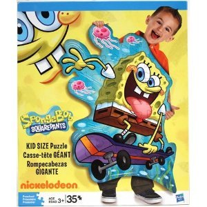 Cheap Hasbro Spongebob Squarepants Skateboarding Puzzle by Hasbro – 35 Piece (B004UMBM0G)