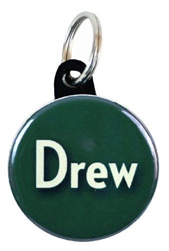 Henry The Buttonsmith Drew Luggage Name Tag Set Of 3, Forest Green