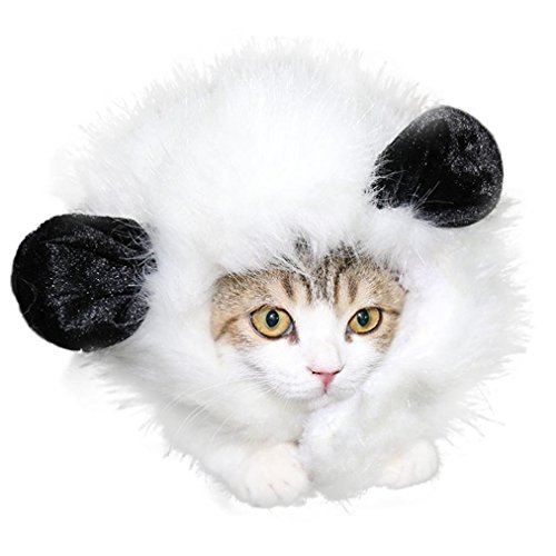 Voberry Pet Costume Mane Wig for Dog Cat Halloween Dress up with Ears