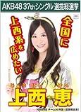 【上西恵】ラブラドール・レトリバー AKB48 37thシングル選抜総選挙 劇場盤限定ポスター風生写真 NMB48チームN