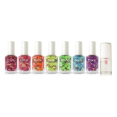 Color-Club-Nailmoji-Neon-Nail-Polish-Set-of-7-Etude-House-Play-Nail-Care-Long-Shine-Top-Coat-8ml-027-fl-oz