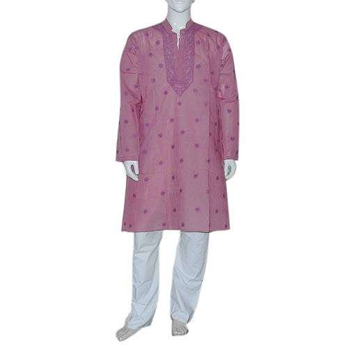 Indian Clothing Embroidered Cotton Kurta Pajama Size M Chest :38 inches