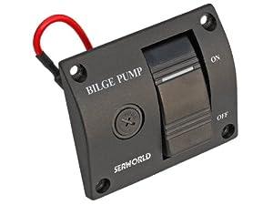 Buy 12v Bilge Pump 3-way Lighted Rocker Switch Panel -Boat, Caravan, Rv- Five Oceans by Five Oceans