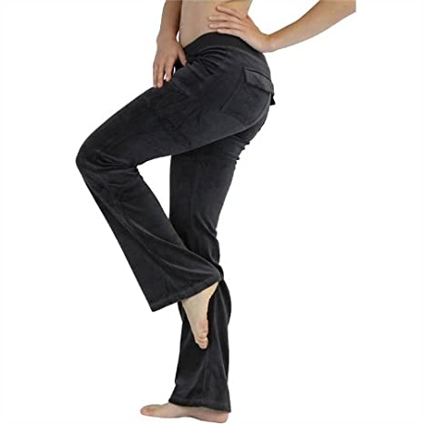 ToBeInStyle Women's Drawstring Velour Pocket Lounge Pants