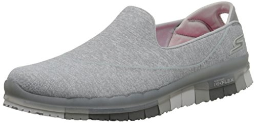 Skechers Go Flex Donna US 8 Grigio Mocassini