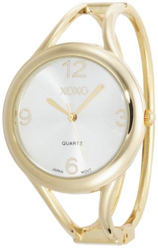 XOXO Women's XO1096 Silver Dial Gold-tone Bangle Watch