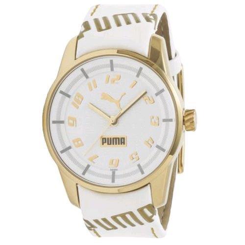 PUMA Women's PU102022002 Race Cat II Gold and White Dial Watch