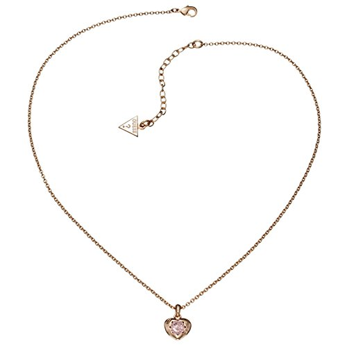 Guess Damen-Kette mit Anhänger Messing Glas rosa 45.5 cm - UBN21564 thumbnail