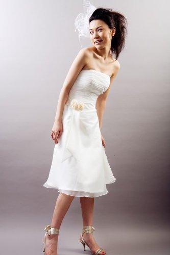 Hochzeits-shop-hamburg Brautkleid für Standesamt kurz bestickt mit ...
