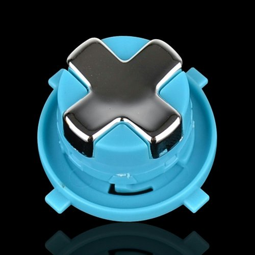 Transforming D-Pad For New Version Of Xbox 360 Controller (Chrome Silver With Blue Base)