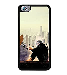 PRINTVISA Abstract Building Case Cover for Micromax Canvas Fire 4 A107