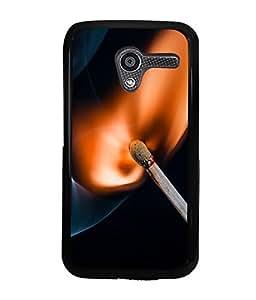 printtech Match Fire Macro Back Case Cover for Motorola Moto X XT1058::Motorola Moto X (1st Gen)