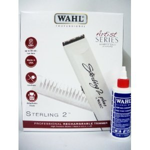 Wahl Sterling 2 Plus Professional Barbers Hair Trimmer (NEW PACKAGING) with Free Clipper Oil