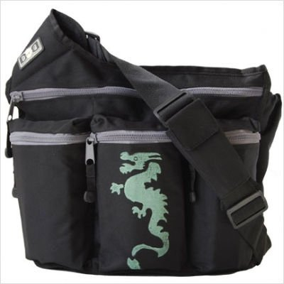 Diaper Dude Dragon Diaper Bag - Black
