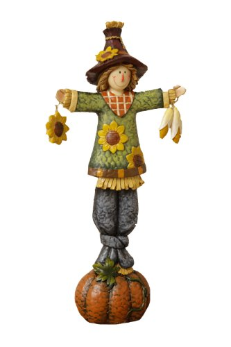 Your Hearts Delight Scarecrow Fall Fun Figurine, 6-1/4 by 12-Inch
