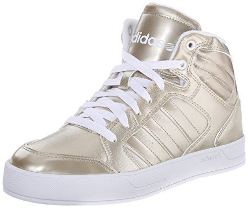 Adidas NEO Women's Raleigh Mid W Casual Sneaker,Cyber Metallic/Cyber Metallic/Running White,8 M US