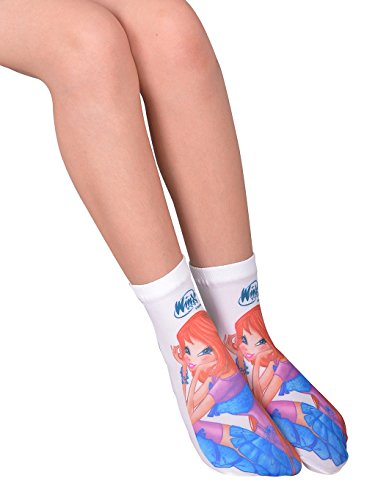 Winx Printed Children Ankle Socks-8705 (From 5 Years To 12 Years Old Options)