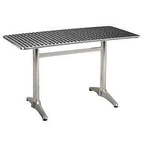 Techno table rectangulaire 120x60 cm gris alinea cuisine maison - Table rectangulaire cuisine ...