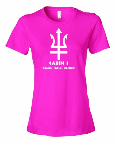 Ladies Cabin 3 Camp Half Blood T-Shirt-Hot Pink-Small