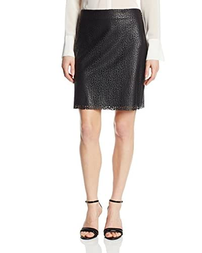 Vince Camuto Women's Laser Cut Faux Leather Skirt