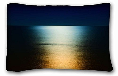 Sea and book Throw Pillow Cover case SoftNature ea Ocean ocean ea reflection unlight One ide Pizza Rectangleuitable for Queen bed PC Red