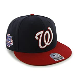 MLB Washington Nationals Men's '47 Brand Big Shot Snapback Cap (Navy, One-Size)