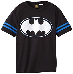 Warner Bros Boys 8-20 Batman Shield Short Sleeve Tee at Gotham City Store