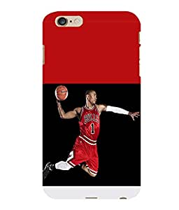 printtech Basketball Bulls Back Case Cover for Apple iPhone 6S Plus