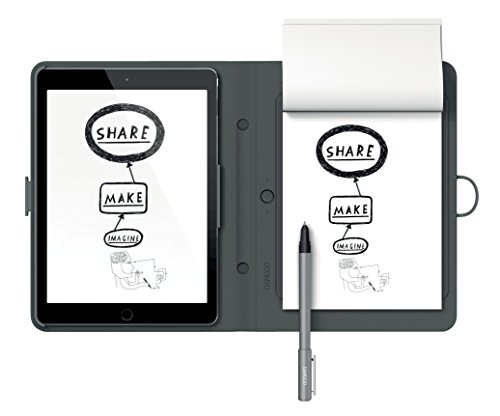 Wacom CDS-600C Bamboo Spark Digitalizzatore di Appunti su Carta per IPad Air 2, Custodia per IPad Air2 Clip On, Grigio