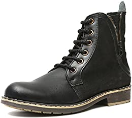 TANNY SHOES Mens Leather High Top Boots B01NBB82XZ