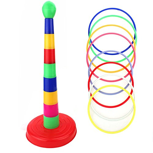 Target Toys For Toddlers : Lanshowed colorful ring toss quoits target game plastic
