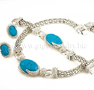 White Gold and Turquoise