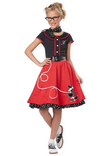 California Costumes 00401 50's Sweetheart Child Costume