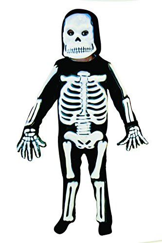 Kids 3D Skeleton Halloween Party Costume Childs Fancy Dress Outfit