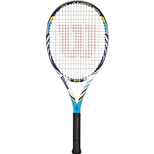 "Wilson 2012 Juice 26"" BLX Junior Tennis Racquet - Light Blue/White/Navy"
